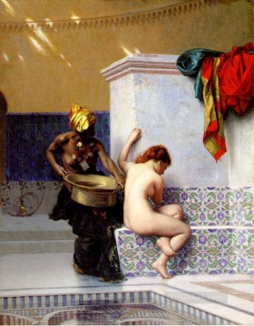Bain Turc Ou Bain Maure deux femmes Arab Jean Leon Gerome Oil Paintings