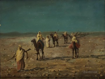 Caravan Alphons Leopold Mielich Araber Oil Paintings