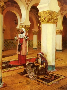Evening Prayer Arabian painter Rudolf Ernst Oil Paintings