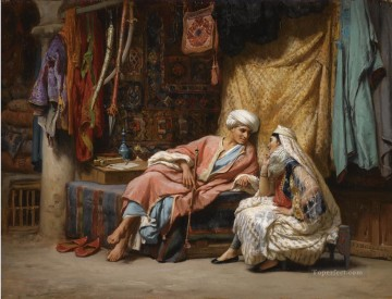 IN THE SOUK TUNIS Frederick Arthur Bridgman Arab Oil Paintings