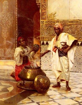 Arab Painting - In The Alhambra Arabian painter Rudolf Ernst
