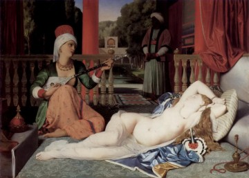 Jean Auguste Dominique Ingres Odalisque with a Slave 1842 Arabs Oil Paintings