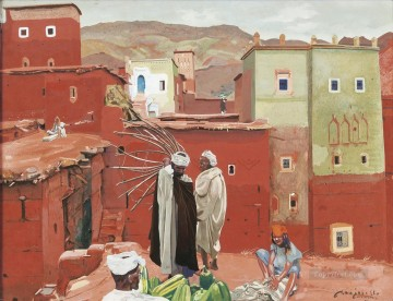 LES BORJS VERTS ANEMITER Jacques Majorelle Orientalist Modernist Araber Oil Paintings