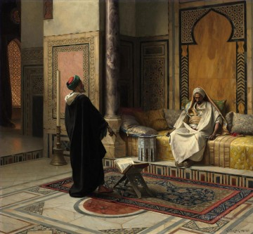 Learned Advice Ludwig Deutsch Orientalism Araber Oil Paintings