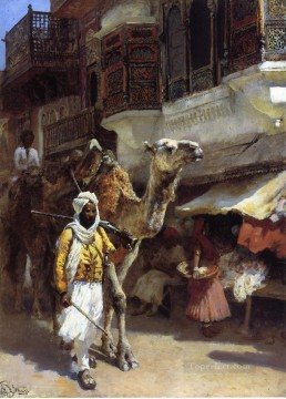 Arab Painting - Man Leading a Camel Arabian Edwin Lord Weeks