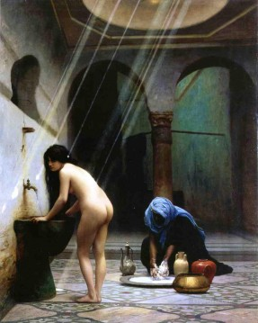Arab Painting - Moorish Bath Arab Jean Leon Gerome
