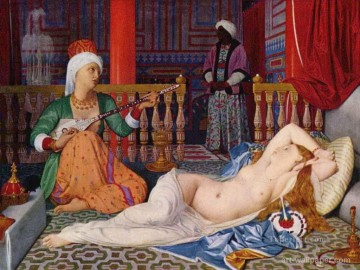 Odalisque with Slave Arabs Oil Paintings