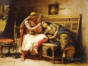 Arabic Oil Painting - Queen of the Brigands Arabic Frederick Arthur Bridgman