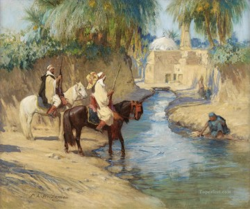 Arab Painting - RETURN FROM THE HUNT Frederick Arthur Bridgman Arab