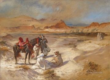 Arab Painting - SIROCCO OVER THE DESERT Frederick Arthur Bridgman Arab