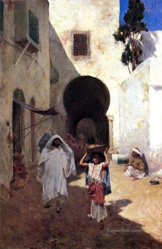 Arab Painting - Street Scene Tangiers Willard Leroy Metcalf Arabs