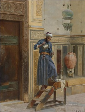 Arab Painting - THE LAMP LIGHTER Ludwig Deutsch Orientalism Araber