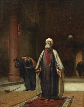 Arab Painting - THE PRAYER Frederick Arthur Bridgman Arab