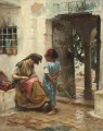 THE SEWING LESSON Frederick Arthur Bridgman Arab