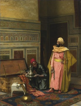 Arab Painting - THE TREASURE CHEST Ludwig Deutsch Orientalism Araber