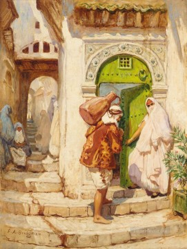 Arab Painting - THE WATER CARRIER Frederick Arthur Bridgman Arab