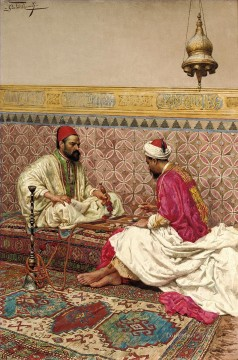 KG Art - The Backgammon Players by Giulio Rosati Arabs