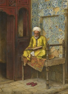Arab Painting - The Learned Man Of Cairo Ludwig Deutsch Orientalism Araber