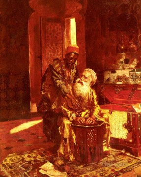 Arab Painting - The Money Changer Arabian painter Rudolf Ernst