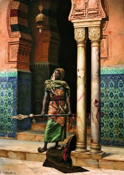 Arab Painting - The Nubian Guard Ludwig Deutsch Orientalism Araber
