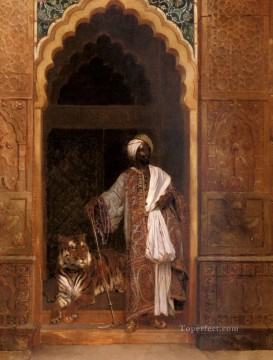 Arab Painting - The Palace Guard Arabian painter Rudolf Ernst