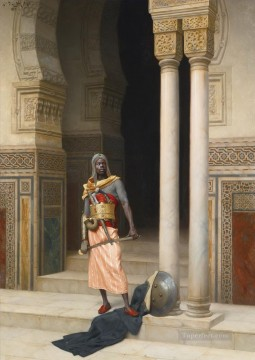 The Palace Guard Ludwig Deutsch Orientalism Araber Oil Paintings