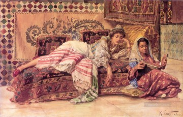 The Reader painter Rudolf Ernst Arabs Oil Paintings