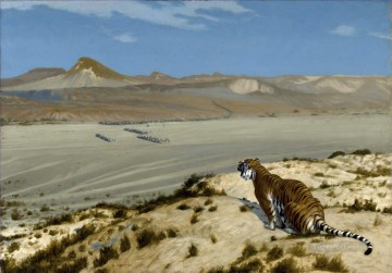 Arab Painting - Tiger on the Watch 3 Arab Jean Leon Gerome_2