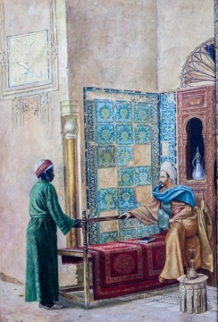 Titel unbekannt Ludwig Deutsch Orientalism Araber Oil Paintings