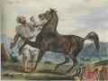 Turk Leading His Horse or Arab