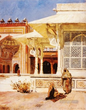 White Marble Tomb at Suittitor Skiri Arabian Edwin Lord Weeks Oil Paintings