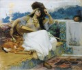 YOUNG WOMAN ON A TERRACE JEUNE FEMME SUR UNE TERRASSE Frederick Arthur Bridgman Arab