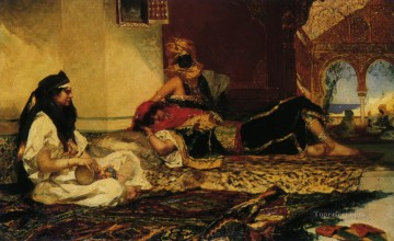 Arab Painting - beauties on carpet Jean Joseph Benjamin Constant Araber