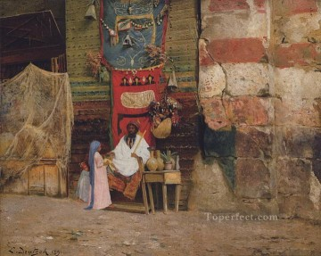 Arab Painting - carpet Ludwig Deutsch Orientalism Araber
