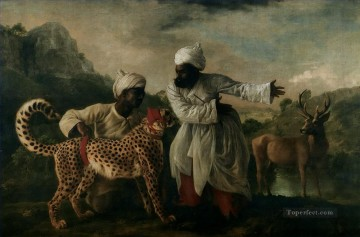 islam leopard and deer Arabs Oil Paintings