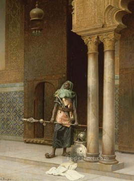 Arab Painting - proud guard Ludwig Deutsch Orientalism Araber