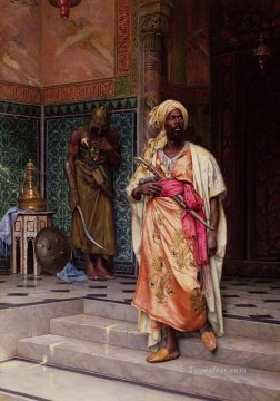 Arab Painting - warrior Ludwig Deutsch Orientalism Araber