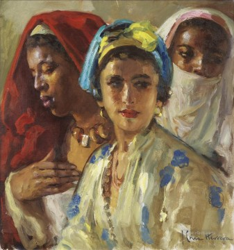 women Painting - women Jose Cruz Herrera genre Araber