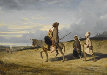Arab Painting - A DESERT PASSAGE Alexandre Gabriel Decamps Araber