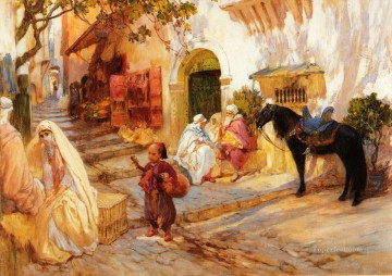 A Street in Algeria Arabic Frederick Arthur Bridgman Oil Paintings