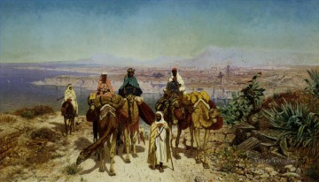 Edmund Works - An Arab Caravan Edmund Berninger