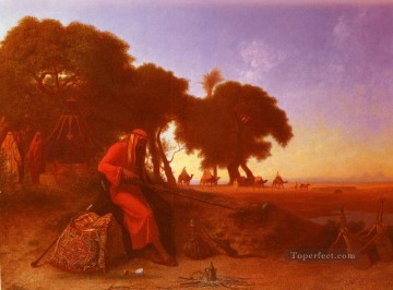 An Arab Encampment Arabian Orientalist Charles Theodore Frere Oil Paintings