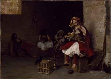 Bashi Bazouk singing Arab Jean Leon Gerome Oil Paintings