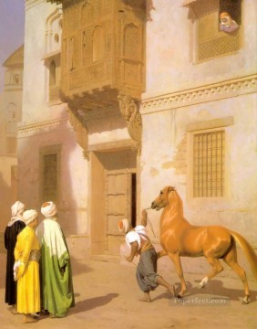 Arab Painting - Cairene Horse Dealer Arab Jean Leon Gerome
