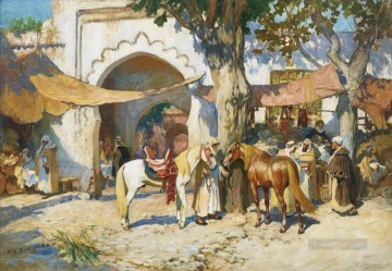 DANS LE SOUK ALGER Frederick Arthur Bridgman Arab Oil Paintings