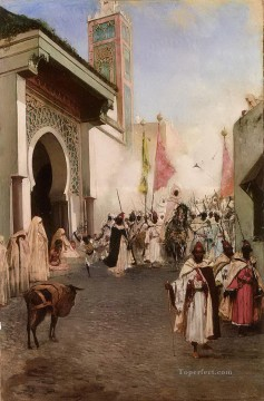 Arab Painting - Entrance of Mohammed II into Constantinople Jean Joseph Benjamin Constant Araber