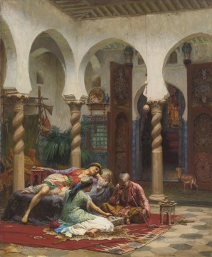 Arab Painting - IDLE MOMENTS Frederick Arthur Bridgman Arab