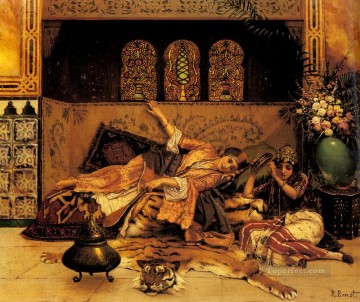 Arab Painting - Les Captives Arabian painter Rudolf Ernst