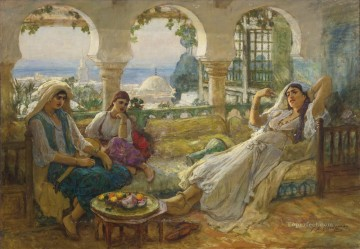 Arab Painting - ON THE TERRACE Frederick Arthur Bridgman Arab