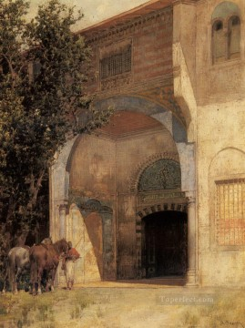 Standing Guard Arabian Alberto Pasini Oil Paintings